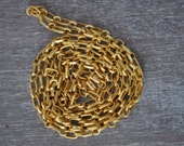 3.3 Feet (1 Meter)  Matte Gold Plated Chain, Jewelry Supply, Jewelry Findings, Accessories