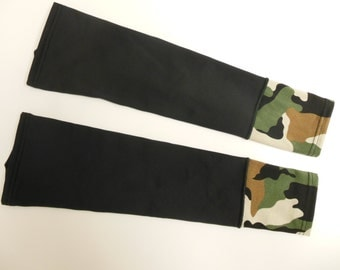 Black/ Camo cuff sleeve