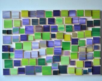 Lavender Mood / Original Modern Art / 3D  Wood Wall Art