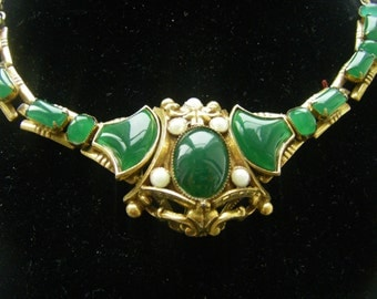 antique glass necklace