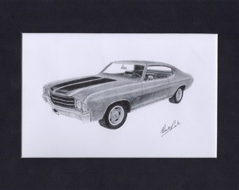Car art of a 1972 Chevelle