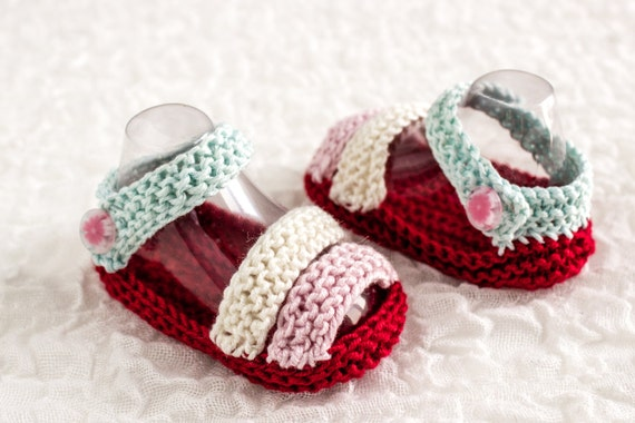 Free Knitting Patterns For Baby Sandals : KNITTING PATTERN Baby Sandals Pattern Summer Booties