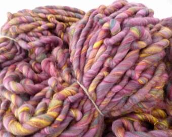 Super chunky yarn, hand spun yarn, merino wool and bamboo yarn, super bulky yarn, handspun yarn, bulky yarn, chunky yarn, wool yarn 100g