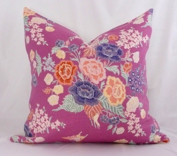 China Seas Macao II Lilac Pillow Cover