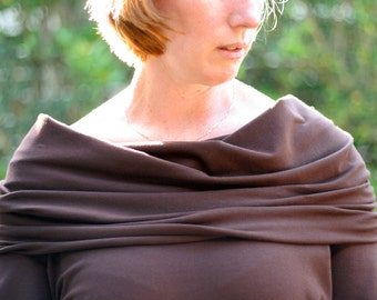 Cowl Neck Sweater pattern - PDF pattern - adult sizing (XS to 4XL)