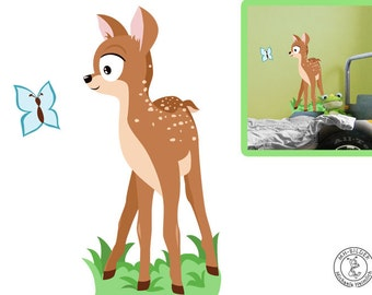 Wall decal deer boy from woodland serie I.