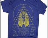 Men's Tee PHARAOH'S DREAM Sacred Geometry Egyptian Metatron Screen Printed Shirt