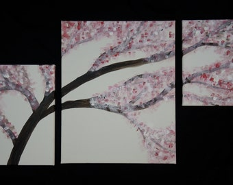Cherry Blossom (2) - An original, acrylic canvas painting