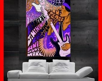 Jimi Hendrix Smoke colorful woodstock Poster Print Wall Art HH10514 S26