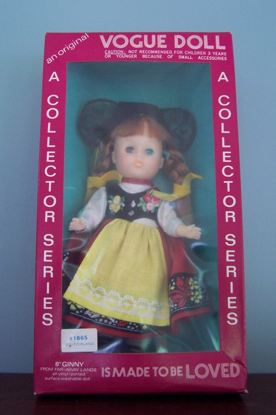 """RESERVED Switzerland Vogue Ginny Doll from the """"Far Away Lands"""" Collection 1972 MIB"""