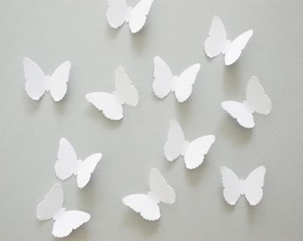 White Butterfly Confetti, Butterfly Party Decoration, Butterfly Cutouts, Birthday, Wedding, Shower, Table Confetti, 1""