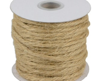 Natural 3.5mm Jute Twine - 25 Yard Roll (x 4)