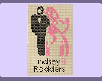 Mr & Mrs Wedding Sampler Cross Stitch Pattern (PDF Download)