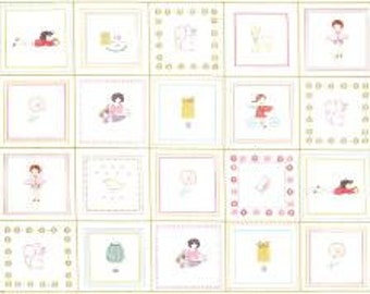 Sew Stitchy Fabric - Stitchettes Panel by Aneela Hoey for Moda Fabrics 18540 11