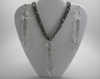 """S1202-""""Chandy Glamour"""" Necklace & Earring Set"""