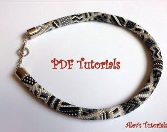 Blind Guardian - Crochet Bead Necklace Pattern - Crochet Bead Necklace Tutorial - Necklace Tutorial