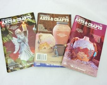 Vintage Ceramics Arts and Crafts Magazines Set of 3 1992-1993