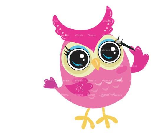 Items similar to Cute owl clipart clip art - baby owl ...