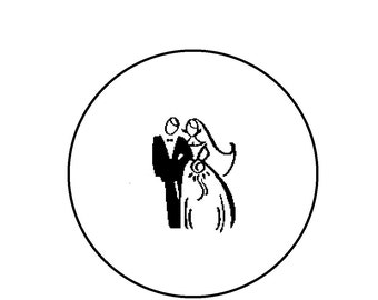 Counted Cross Stitch Pattern - Wedding Bride and Groom Silhouette Wedding Cross Stitch Pattern, Xstitch