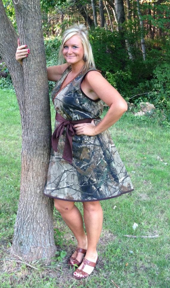 Womens Camo Dress Misses Plus Size