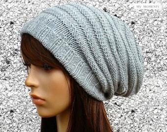 KATE  Slouch Hat Merino light gray