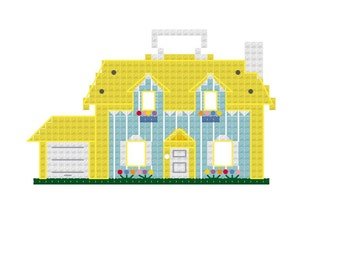 Vintage Fisher Price House Cross Stitch Pattern
