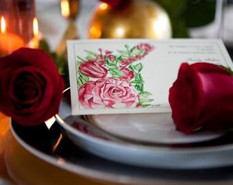 Red Rose Invitation (Digital Files)