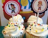 Jake and the neverland Pirates Cupcake toppers, 12 Ready-to-ship item