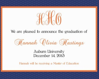 Auburn University Graduation Announcement