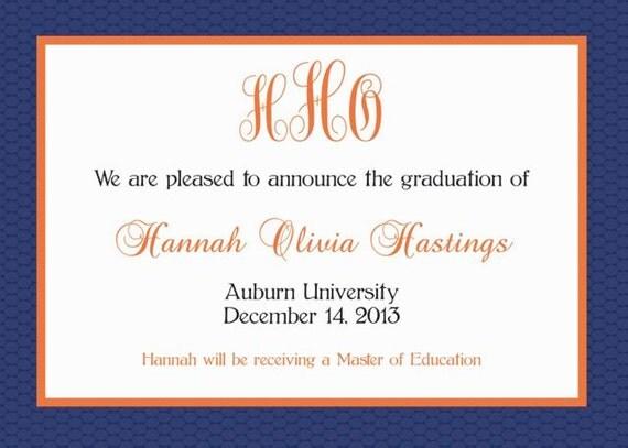 University Graduation Announcement