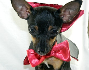 Dracula vampire dog costume XXS-M