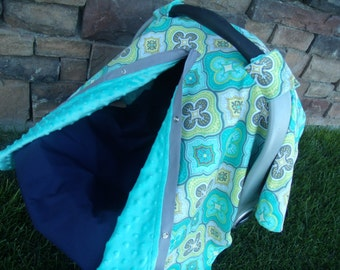 Carseat Canopy Minky Burst Blanket Cover car seat canopy car seat cover