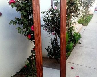 wood mirror floor mirror