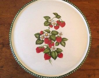 Strawberry Cake Plate