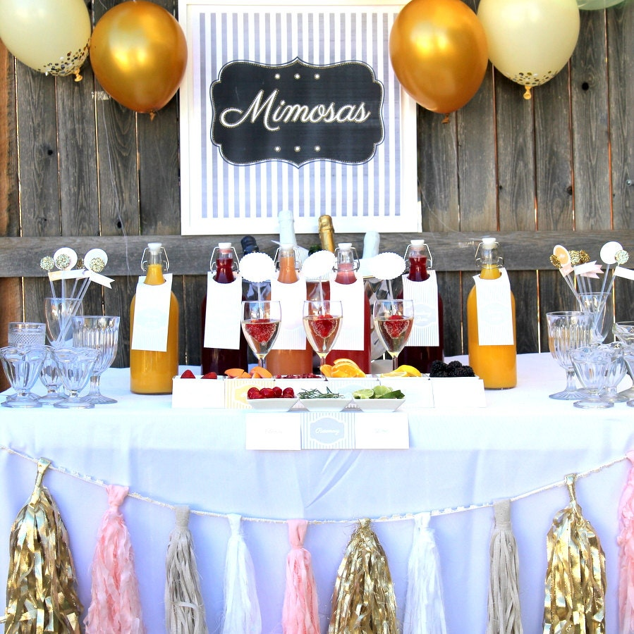 Items Similar To Mimosa Bar Wedding, Shower Or Party Drink