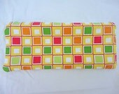 Bright Colored Squares Zip Pencil Pouch