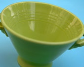 Homer Laughlin Fiesta Style Sugar Bowl in Green with Lid.