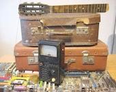 Vintage multitester  Soviet device,  multimeter Retro Lab, Black Case Carbolite, Soviet Vintage 1965