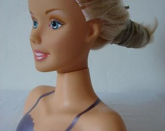 Plastic Doll Large Size Vintage Barbie Blonde Hand-painted  Face