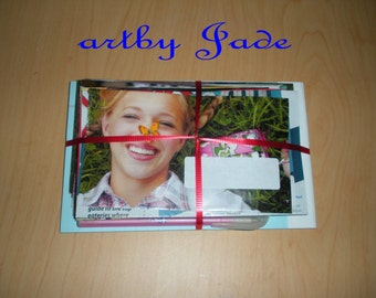 Trendy Recycled Magazine Envelope Stationary Kit With Notebook and Pen