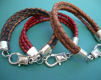 Braided Leather  Bracelet, Mens Bracelet, Mens Jewelry, Mens Gift, Womens Bracelet, Womens Jewelry, Leather Bracelet