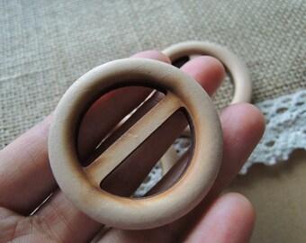 8Pcs 45mm unfinished wood belt buckle (W247)