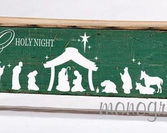 O Holy Night Nativity Vinyl Decal