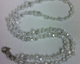 Ice Princess Beaded Chez Crystal Lanyard