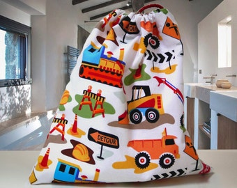 Cute Kids Wash Bag with Diggers & Wash Cloth