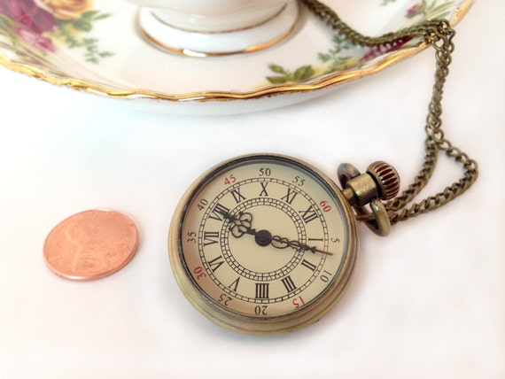 1 Pc Small Roman Numeral Pocket Watch By Kaysvillecraftsupply