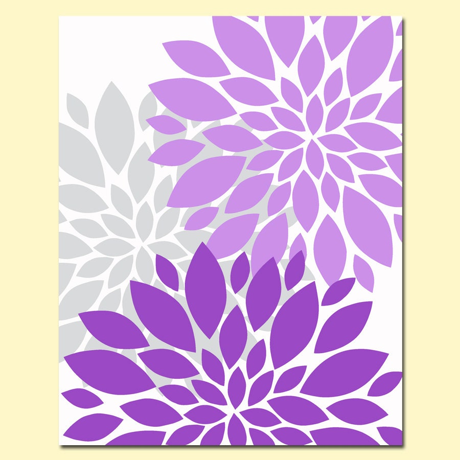 Blue Flower Burst Clipart Purple gray flower bursts