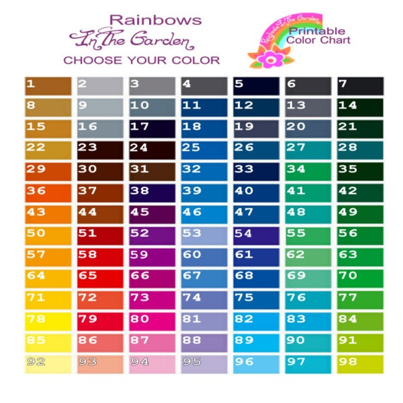 Refreshing image intended for printable color chart