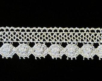 "508 Metallic lace trim - ""Coins"" - 7/8"" (22mm)"