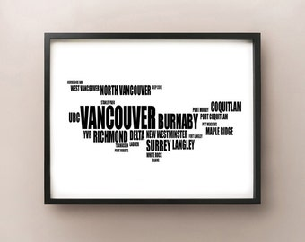 Vancouver Typography Map